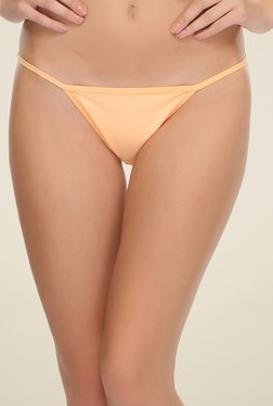 Clovia Orange Lacy Bikini Panty