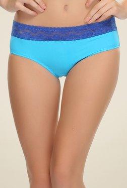 Clovia Blue Lace Trendy Bikini Panty