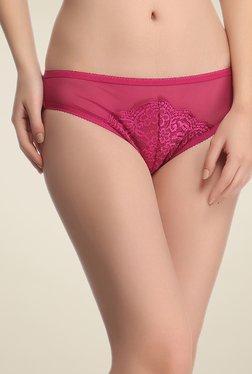 Clovia Magenta Lace Bikini Panty