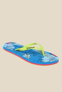 Solethreads Paris Lime & Blue Flip Flops