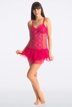PrettySecrets Fuchsia Ruffle Lace Babydoll