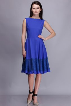 Kaaryah Blue Lace Dress