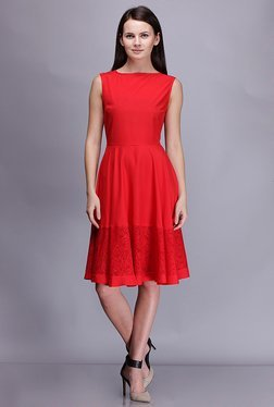 Kaaryah Red Lace Dress