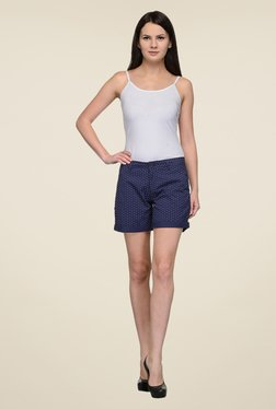 United Colors Of Benetton Navy Printed Shorts