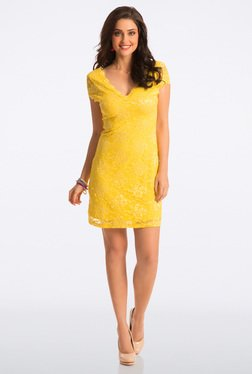 PrettySecrets Blazing Yellow Bodycon Dress