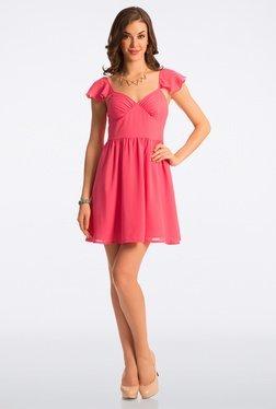 PrettySecrets Candy Pink Flared Dress