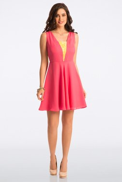 PrettySecrets Candy Pink Abiding Adorable Lace Dress