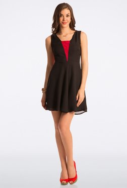 PrettySecrets Flattering Black Abiding Adorable Lace Dress