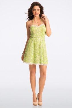 PrettySecrets Fresh Lime Rose Sweet Summer Halter Sundress