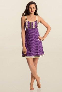 PrettySecrets Purple Polka Dot Play Short Chemise