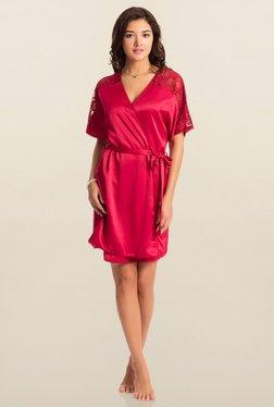 PrettySecrets Red Midnight Spell Short Robe