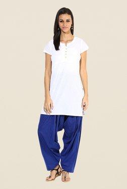 Stylenmart Royal Blue Solid Patiala Pants