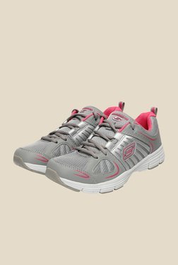 Skechers Grey & Pink Running Shoes