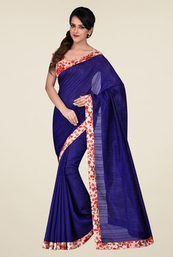 Shonaya Blue Bhagalpuri Art Silk Saree