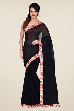 Shonaya Black Bhagalpuri Art Silk Saree