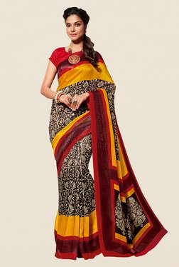 Shonaya Brown & Maroon Cotton Silk Saree