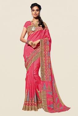 Shonaya Pink & Beige Cotton Silk Saree