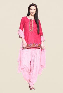 Stylenmart Baby Pink Patiala & Dupatta Set