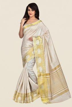Shonaya Beige Banarasi Art Silk Saree