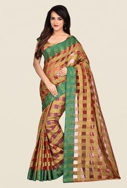 Shonaya Red & Beige Banarasi Art Silk Saree