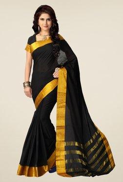 Shonaya Black & Gold Cotton Silk Saree