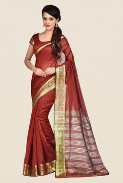 Shonaya Brown Banarasi Art Silk Saree