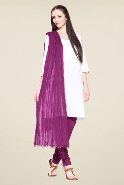Stylenmart Purple Churidar & Dupatta Set