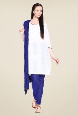 Stylenmart Blue Churidar & Dupatta Set