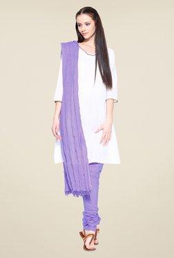 Stylenmart Lavender Churidar & Dupatta Set