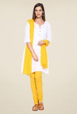 Stylenmart Yellow Solid Churidar & Dupatta Set