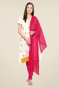 Stylenmart Pink Churidar & Dupatta Set