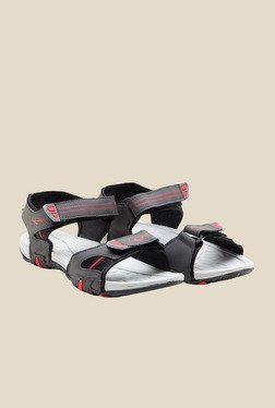 Lancer Grey & Red Floater Sandals
