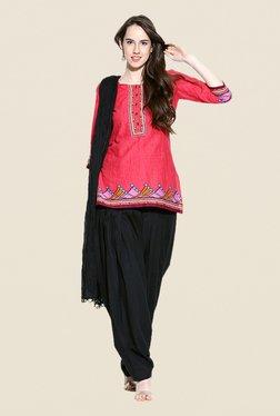 Stylenmart Black Patiala & Dupatta Set