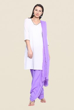 Stylenmart Lavender Patiala & Dupatta Set