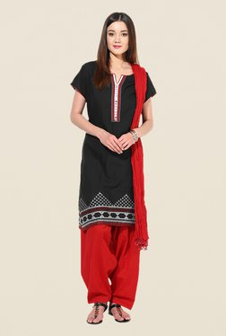 Stylenmart Red Patiala & Dupatta Set