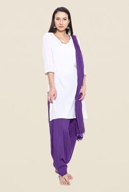 Stylenmart Purple Patiala & Dupatta Set