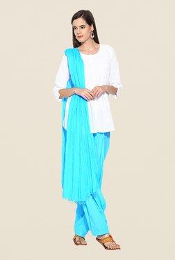 Stylenmart Turquoise Patiala & Dupatta Set