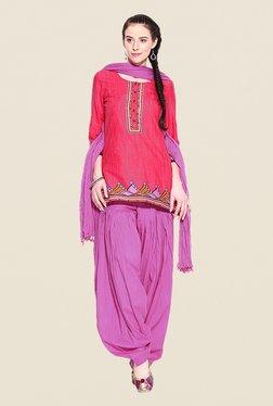 Stylenmart Pink Patiala & Dupatta Set