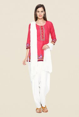 Stylenmart Off White Patiala & Dupatta Set