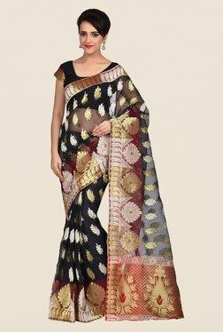 Shonaya Black & Gold Banarasi Art Silk Saree