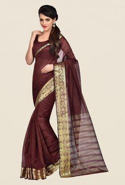 Shonaya Maroon Banarasi Art Silk Saree