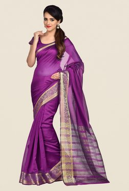 Shonaya Purple Banarasi Art Silk Saree