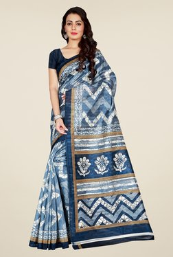 Shonaya Blue & Grey Bhagalpuri Art Silk Saree