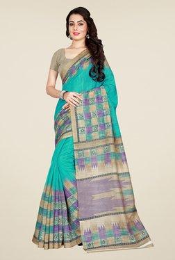 Shonaya Turquoise & Beige Art Silk Saree