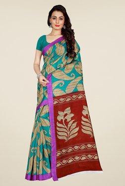 Shonaya Green & Maroon Art Silk Saree