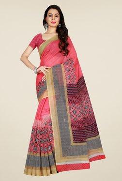 Shonaya Pink & Beige Art Silk Saree
