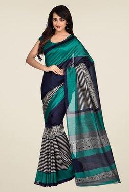 Shonaya Teal & Blue Bhagalpuri Art Silk Saree