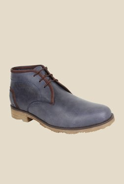 Pruto Blue & Brown Chukka Boots