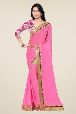 Shonaya Pink Satin Chiffon Saree