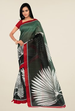 Shonaya Green & Grey Bhagalpuri Silk Printed Saree